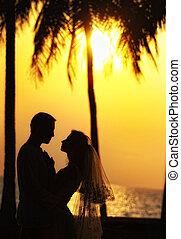 Wedding on a sunset