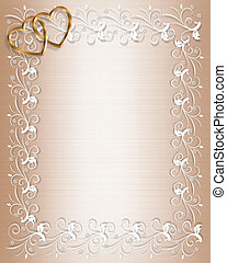 Wedding or Party Invitation Satin