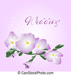 Wedding orchid stem vector.eps