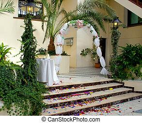 Wedding Path Rose Petals