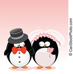 Wedding Penguins - Cute Married Penguins