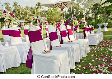 wedding - fragment like view of nice chairs ready for...