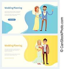 Wedding Planning and Celebration Websites Set