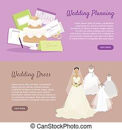 Wedding Planning and Wedding Dress Web Banner.