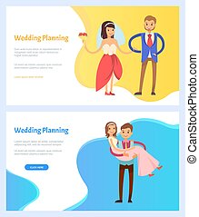 Wedding Planning Bride and Bridegroom Website