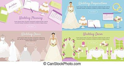 Wedding Planning Preparation, Decor Dress Banner.