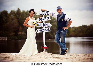 Wedding pointer - Stylish Autumn wedding a beautiful bride...