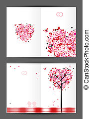Wedding postcard, cover and inside page. Design for your print