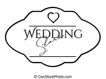 Wedding, Rahmen, Beschriftung - wedding, rahmen,...