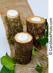 Wedding Reception Decor Candles