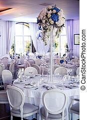 Wedding reception - Table set for wedding reception