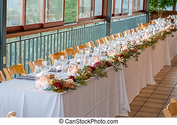 Wedding Reception Table at Winery Wedding