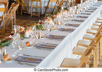 Wedding Reception Table at Winery Wedding