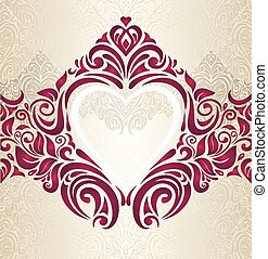 Wedding Red And Gold Background