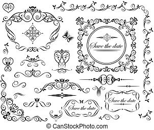 Wedding retro design