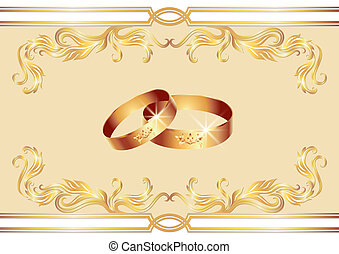 Wedding ring - Card with wedding ring