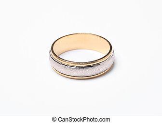 Wedding ring - Close up photo of wedding ring isolated on ...