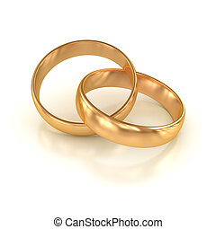 Wedding ring , computer generated image. 3d render.