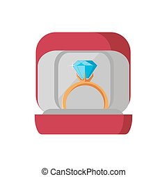 Wedding Ring Icon - Wedding ring icon in the red box on...