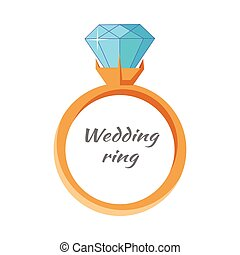 Wedding Ring Icon Isolated. Jewels Concept.