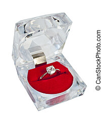 Wedding ring in a gift box