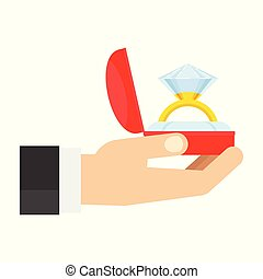 wedding ring in hand