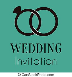 Wedding Ring Invitation Vector Image