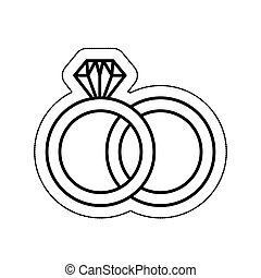 wedding ring isolated icon vector illustration design