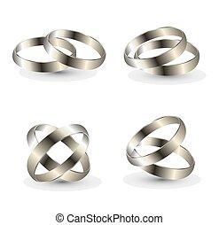 wedding ring on a grey background