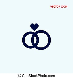 wedding ring vector icon