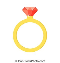 Wedding ring vector icon.