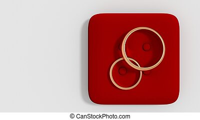 wedding rings 3d render