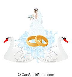 Wedding rings and groom