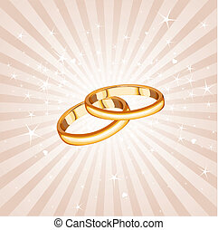 Wedding rings background - Wedding rings on the radial...