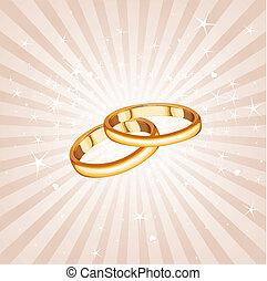 Wedding rings background