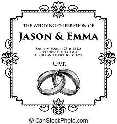 Wedding Rings Bands Wedding Invitation Template
