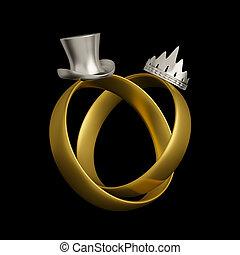 Wedding rings conceptual design