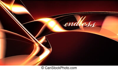 """Dancing gold rings with words """"endless"""" and """"love"""