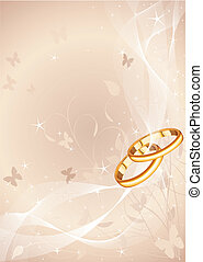 Wedding rings design - Wedding rings background with copy...
