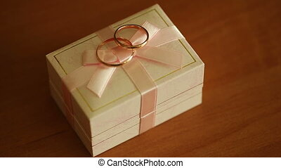 Wedding Rings On A Box