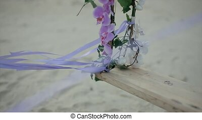 Wedding Rings on Derevlany Swing with Flowers