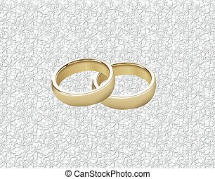 WEDDING RINGS ON LACE