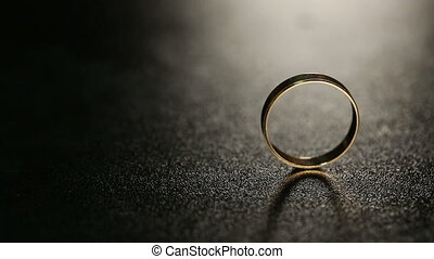Wedding Rings on Table