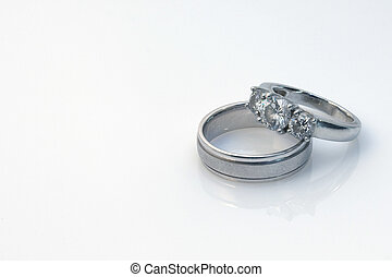 Wedding Rings - His and hers wedding rings