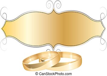 WEDDING RINGS RETRO FRAME