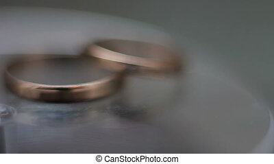 wedding rings spinning closeup