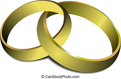 Wedding rings. Vector illustration