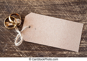 Wedding rings with blank tag