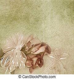 wedding, rose, blumengebinde