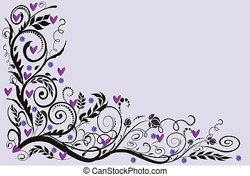Wedding roses floral corner frame invitation greetings card